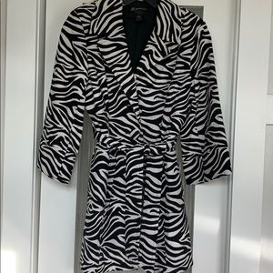 Gorgeous Zebra print jacket with pockets from INC